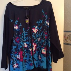 NEW 3X Dressy Open Front Sweater